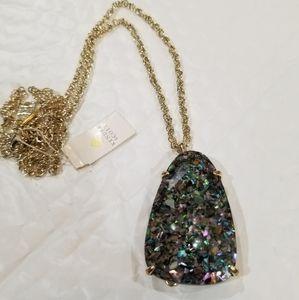 Crushed Purple Abalone Custom Sandra Necklace Gold